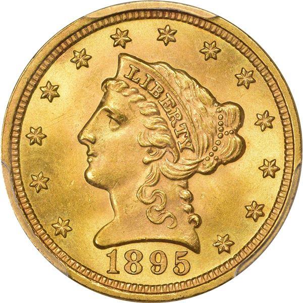 1895 Gold $2.50. MS-66+ PCGS.
