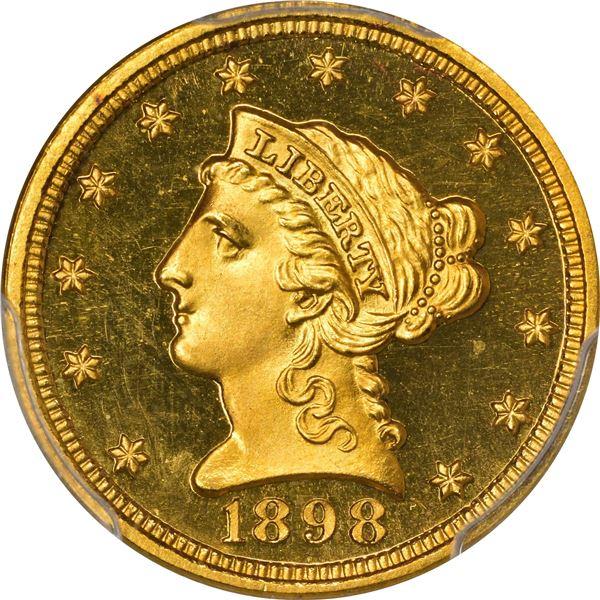 1898 Gold $2.50. Proof-66 + DCAM PCGS. CAC