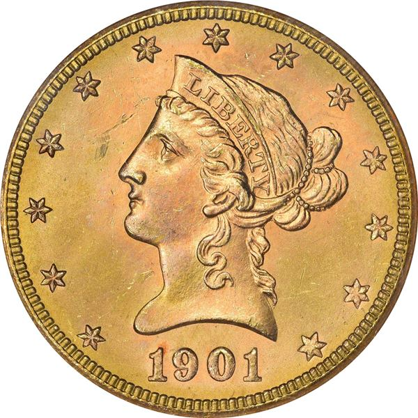 1901-S Gold $10. MS-65 NGC