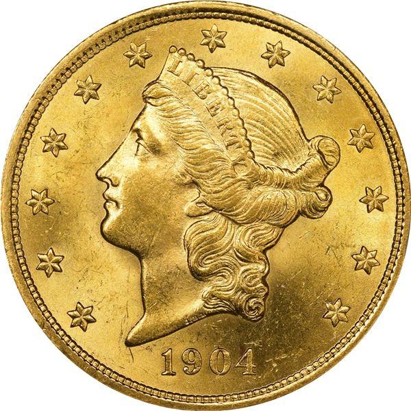 1904 $20. MS-63 NGC.