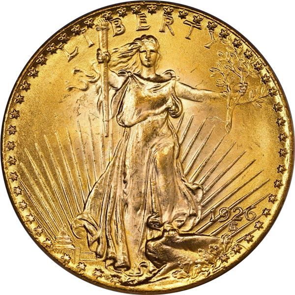 1926 Gold $20. MS-64 PCGS. CACV