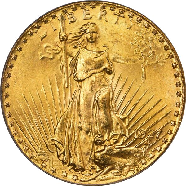1927 Gold $20. MS-64 PCGS. CACV