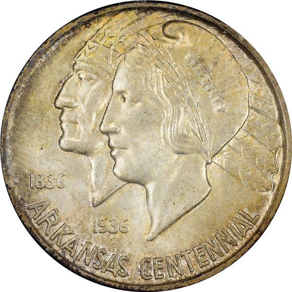 1938-D Arkansas Centennial Half Dollar. MS-66 NGC. CAC