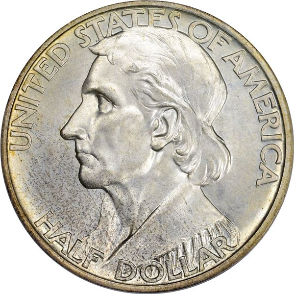 V1937-D Boone Bicentennial Half Dollar. MS-65 PCGS. CAC