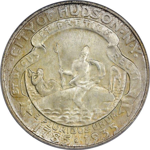 1935 City of Hudson, New York Half Dollar. MS-65 PCGS. CAC