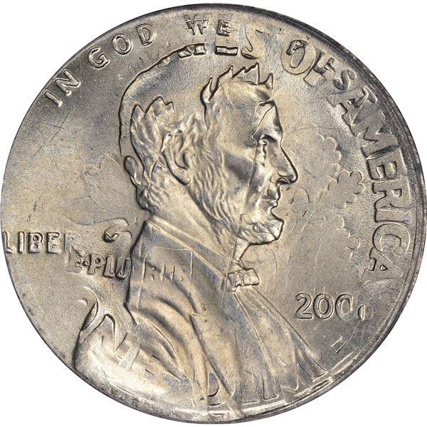 2006 1¢. Mint Error. Double Denomination. Lincoln Cent on Struck Roosevelt Dime. MS-64 RD PCGS.