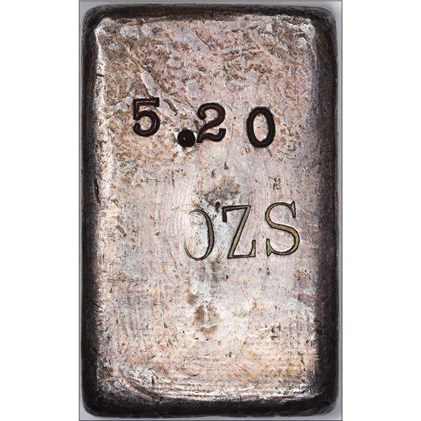 Undated (1930s) San Francisco Mint Ingot: Serial #1767, Type-1 Hallmark, Large Font, Straight 9's, 5