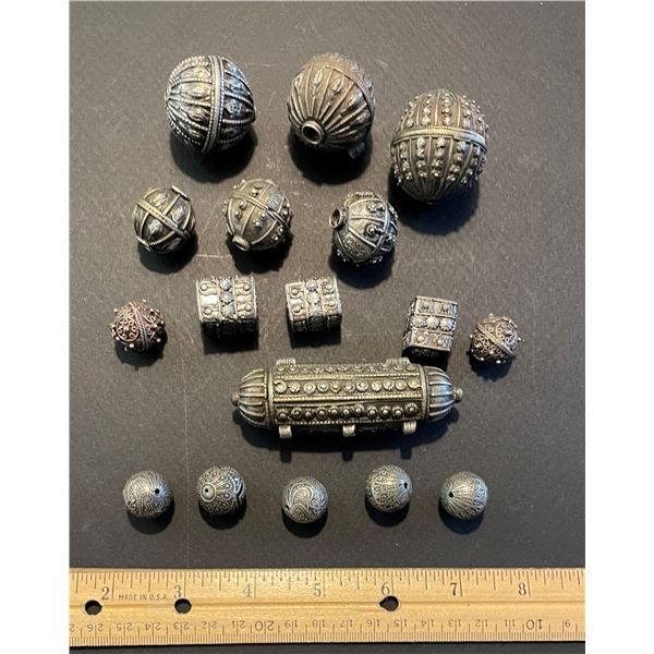 Hollow Silver Beads
