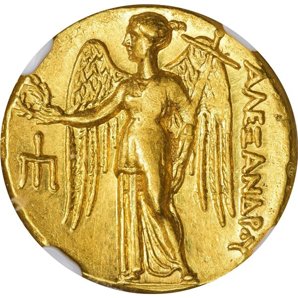 Kingdom of Macedon. Alexander III, the Great. 336-323 BC Gold Stater. Lifetime-Early Posthumous. AU