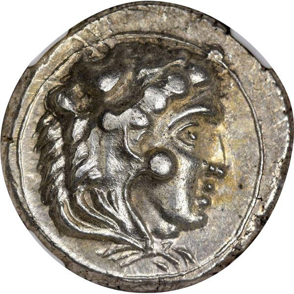 Kingdom of Macedon. Alexander III, the Great. 336-323 BC Silver Tetradrachm. Lifetime Eastern Imitat