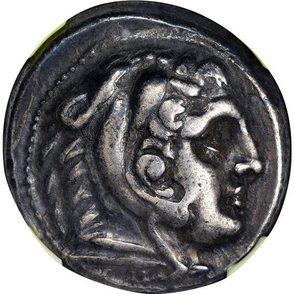 Kingdom of Macedon. Alexander III, the Great. 336-323 BC Silver Tetradrachm. Posthumous. VF NGC.