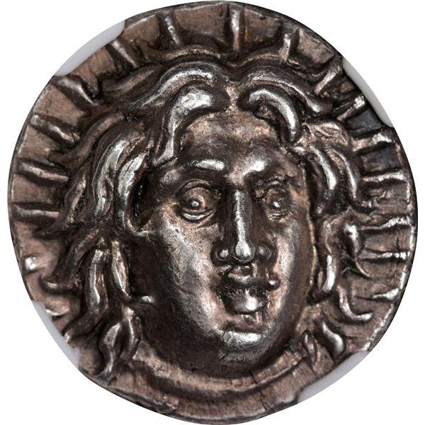 Greece. Isle of Rhodes. Caria. Circa 3rd Century BC Silver Didrachm. Choice AU* NGC.