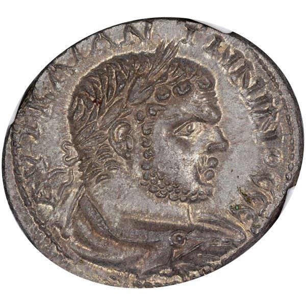 Phoenicia. Sidon. Caracalla. AD 198-217 Billon Tetradrachm. MS NGC.