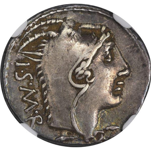 Rome. Republic. L. Thorius Balbus. Circa 105 BC Silver Denarius. Choice VF NGC.