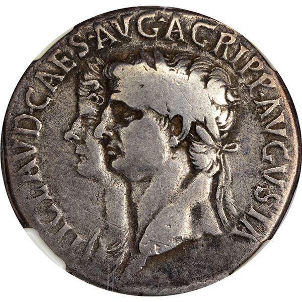 Rome. Empire. Claudius & Agrippina, Jr. Circa AD 51 Silver Cistophorus. Choice Fine* NGC.