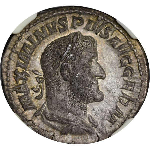 Rome. Empire. Maximinus I. AD 235-238 Silver Denarius. EF NGC.