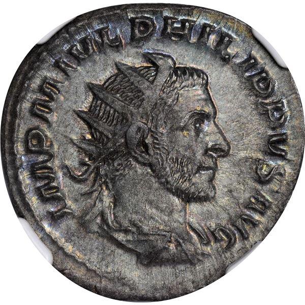 Rome. Empire. Philip I. AD 244-249 Silver Double Denarius. Mint State NGC.
