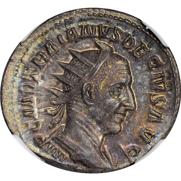Rome. Empire. Trajan Decius. AD 249-251 Silver Double Denarius. Mint State NGC.