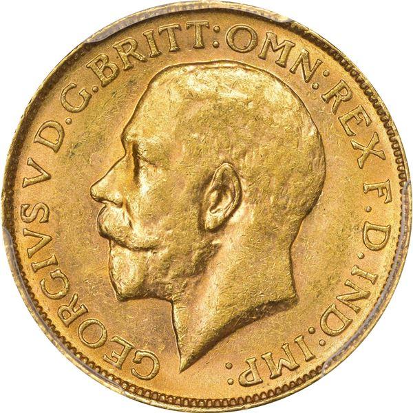 Australia. 1917-P Gold Sovereign. Perth Mint. S-4001, KM-29. MS-61 PCGS.