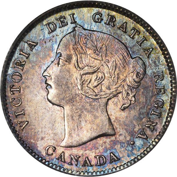 Canada. Victoria. 1898 Silver 5¢. KM-2. MS-62 PCGS.