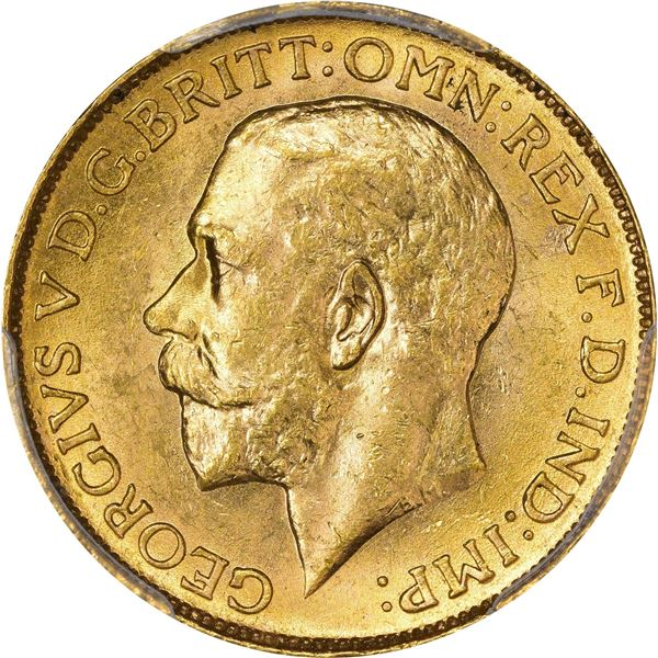 Canada. George V. 1911-C Gold Sovereign. KM-20. MS-62 PCGS.