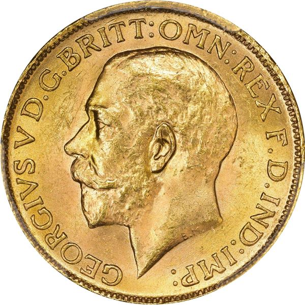 Canada. George V. 1917-C Gold Sovereign. KM-20. MS-64 PCGS.
