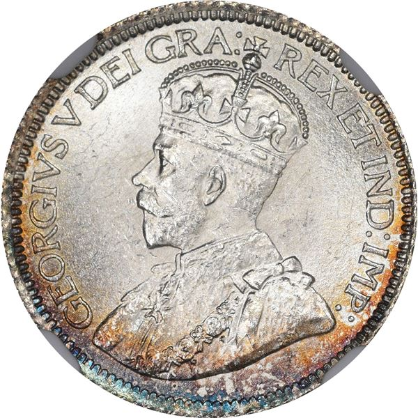 Newfoundland. George V. 1919-C 10¢. KM-14. MS-64 NGC.