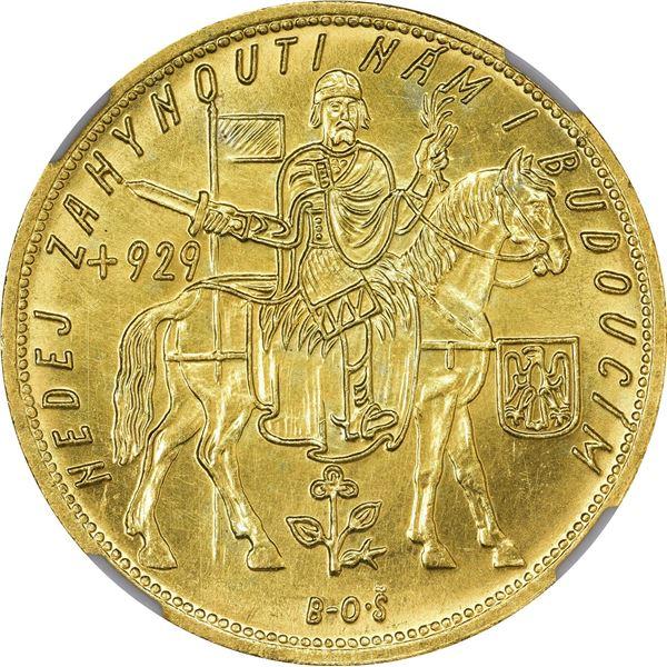 Czechoslovakia. 1932 Gold 5 Dukatu. KM-13. MS-62 NGC.