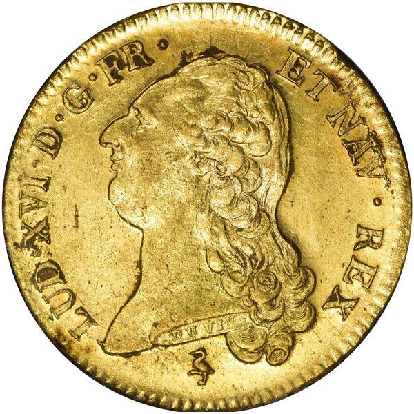 France. Louis XVI. 1786-A Gold 2 Louis D'or. KM-592.1. Paris Mint. MS-61 NGC.
