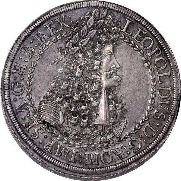German States. Austria. Hall Mint. Leopold I, the Hogmouth. Circa 1686-1696 Double Thaler. Dav-3252.