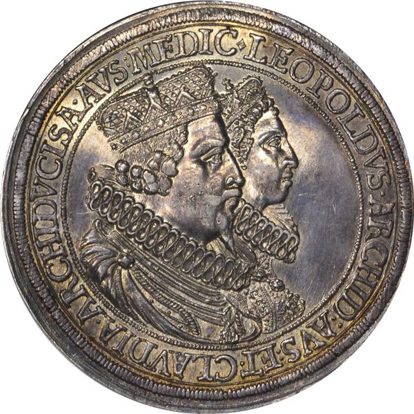 German States. Austria. Hall Mint. Leopold & Claudia. Circa 1626 Double Thaler. Dav-3331. MS-62 NGC.