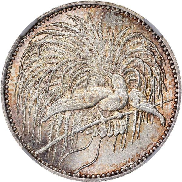 German New Guinea. 1894-A Half Mark. Berlin Mint. KM-4. MS-66 NGC.
