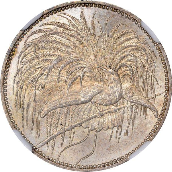 German New Guinea. 1894-A 1 Mark. Berlin Mint. KM-5. MS-65 NGC.