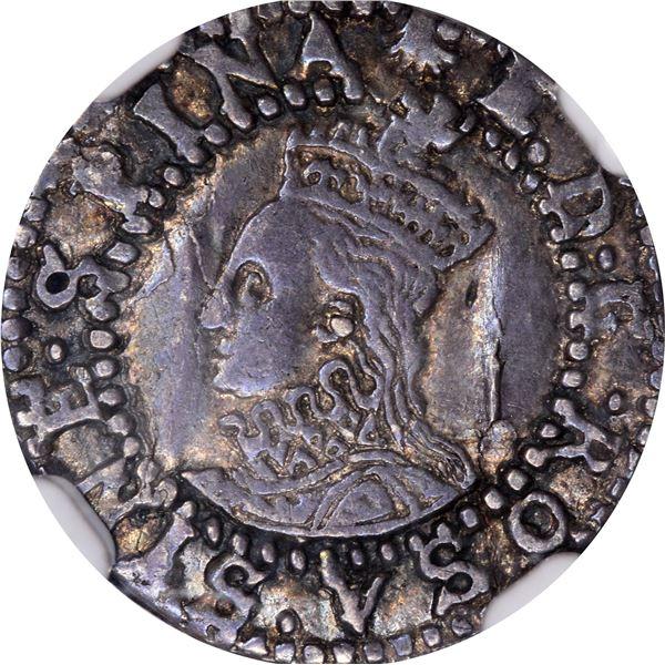 Great Britain. England. Elizabeth I. Circa 1584-1586 Silver Penny. London Mint. S-2580. EF-45 NGC.