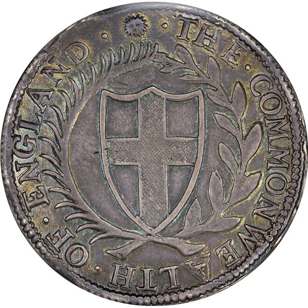 Great Britain. Commonwealth. Oliver Cromwell Issue. 1652 Crown. ESC-4. Sun Mintmark. AU-55 NGC.
