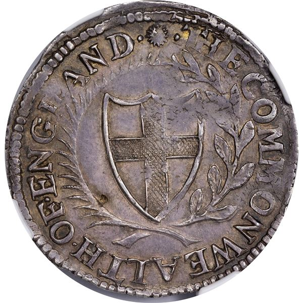 Great Britain. Commonwealth. Oliver Cromwell Issue. 1652 Shilling. ESC-986. AU-53 NGC.