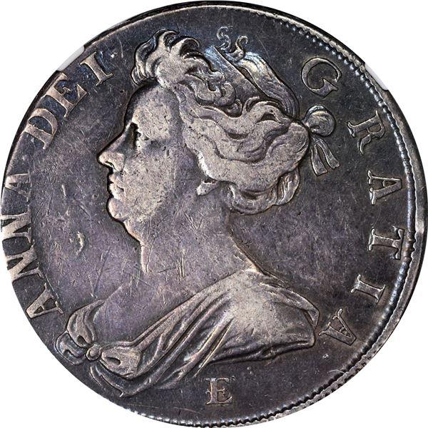 Great Britain. Anne. 1707-E Half Crown. S-3605, ESC-575. VF-30 NGC