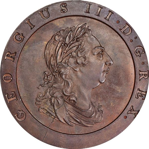 Great Britain. George III. 1797 Twopence or Cartwheel. Peck-1078; S-3776 for Type. Bronzed Restrike.