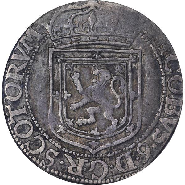 Scotland. 1603 Silver Merk. James VI. Crowned Thistle Type. KM-16. VF-20 NGC.