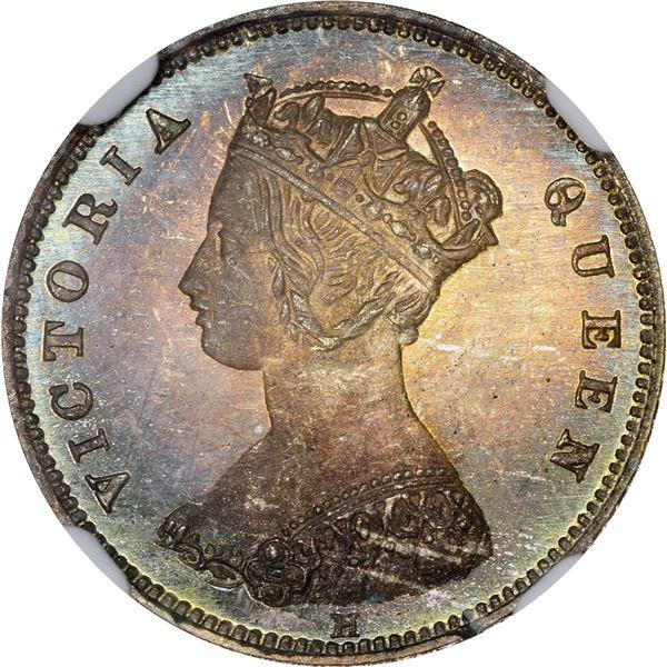 Hong Kong. British Colony. Victoria. 1875-H 10¢. Heaton Mint. KM-6.3. Specimen-67 NGC.