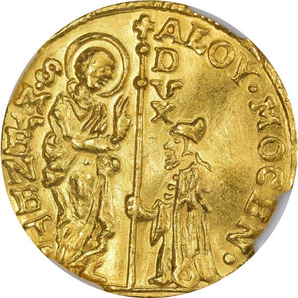 Italian States. Venice. Undated (1763-1768) Gold 1 Zecchino. Fr-1421. MS-61 NGC.