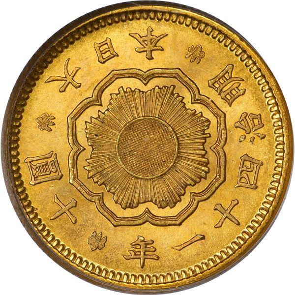 Japan. Year 41 (1908) Gold 10 Yen. Y-33. MS-63 PCGS.