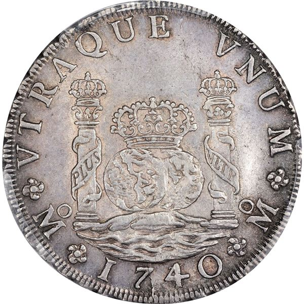 Mexico. Colonial. 1740/30-MO MF 8 Reales. Mexico City Mint. Philip V. KM-103. AU-53 PCGS.