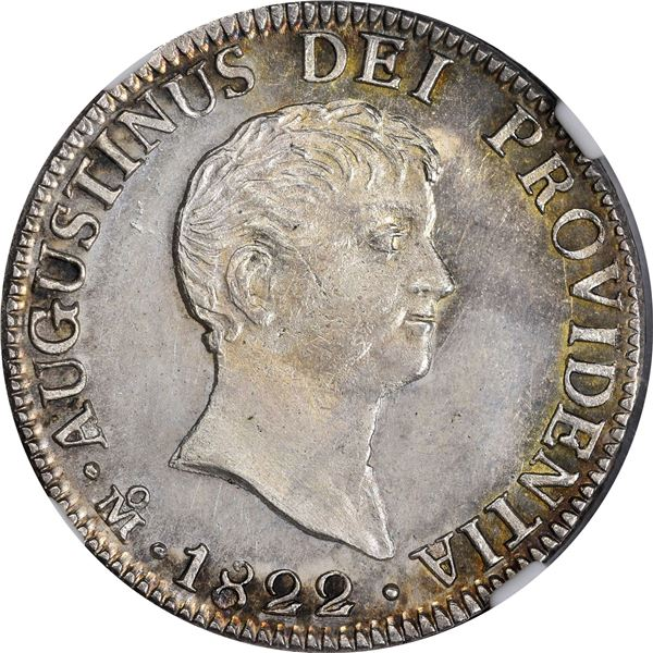 Mexico. Empire of Iturbide. 1822-JM 2 Reales. Mexico City Mint. KM-303. Silver. MS-63 NGC.