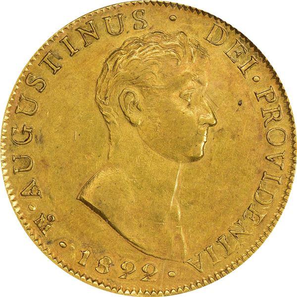 Mexico. Empire of Iturbide. 1822-JM Gold 8 Escudos. Fr-59, Calico Onza-1778, KM-313.1. AU-58 NGC