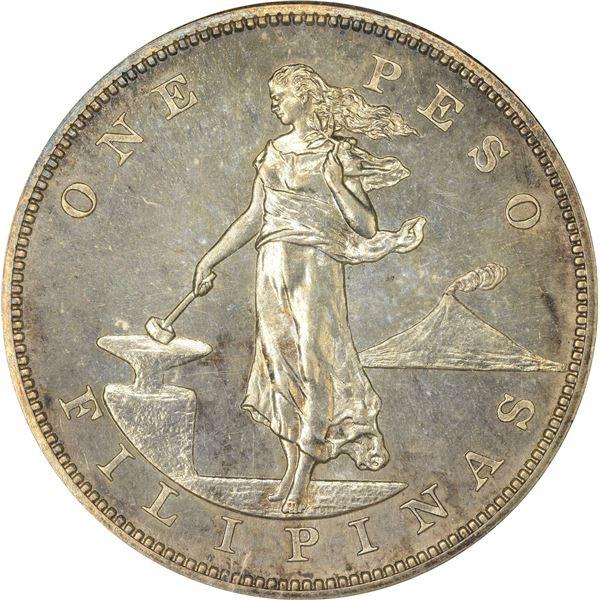 Philippines. U.S. Sovereignty. 1904 Peso. Proof-64 ANACS.