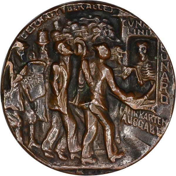 Germany. Karl Goetz. 1915 Lusitania Medal. Original. Bronzed Lead. As struck,