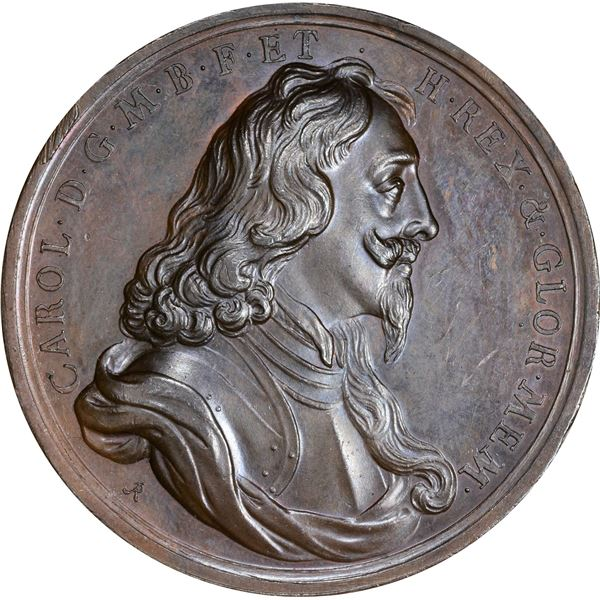 Great Britain. England. (1749) Charles I Death Medal. Bronze. As Struck,