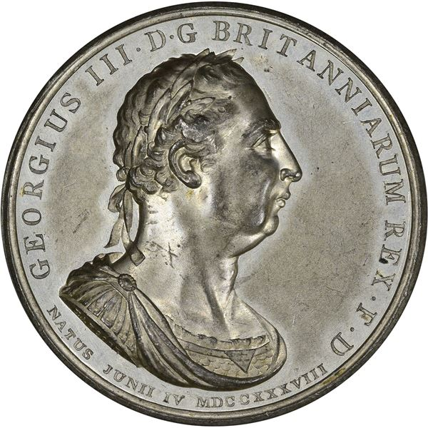 Great Britain. George III. 1804 Union with Ireland Medal. White Metal. As struck,