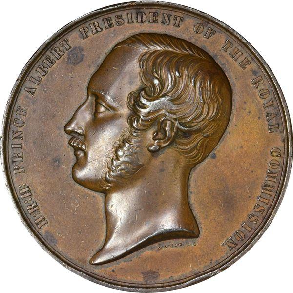 Great Britain. 1851 Prince Albert Industry Exhibition Exhibitor Medal. Bronze. EF,